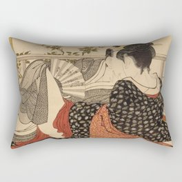 Lovers In The Upstairs Room Rectangular Pillow
