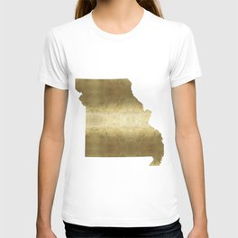 missouri gold foil state map T-shirt