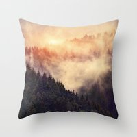 metal Throw Pillows featuring In My Other World by Tordis Kayma