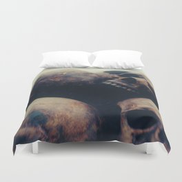 Put your heads together Duvet Cover