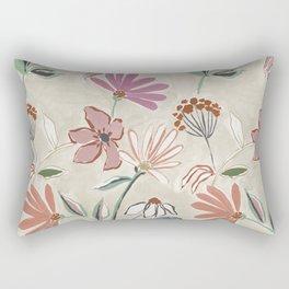 Monday Floral Rectangular Pillow