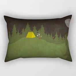 Camping Scene Rectangular Pillow