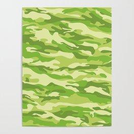 Green Kelp Camo Pattern Poster