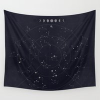 constellations Wall Tapestries featuring Constellations by Seana Seeto