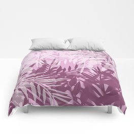 Pink tropical background Comforters