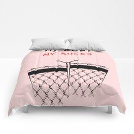 My Body - My Rules Feminist Pro Choice Print Comforters
