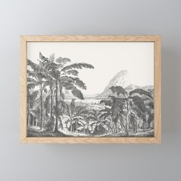 Palms and Mountain Framed Mini Art Print