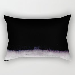 black and gray abstract landscape painting Rectangular Pillow