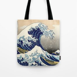 Katsushika Hokusai, The Great Wave off Kanagawa, 1831 Tote Bag