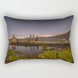 Tamblingan lake before sunrise, Bali - Indonesia Rectangular Pillow