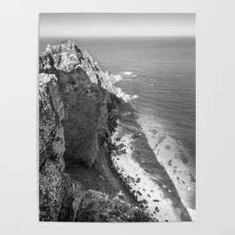 Cliffs along Cape Point, South Africa Poster