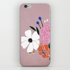 winter floral iPhone & iPod Skin