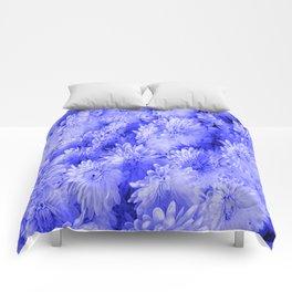 Periwinkle Floral Garden Comforters