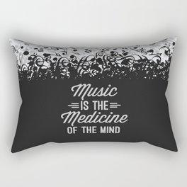 Music Medicine Mind Quote Rectangular Pillow
