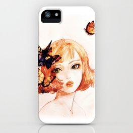 butterfly girl iPhone Case