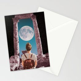 Space Girl - Moon Exploration Stationery Cards