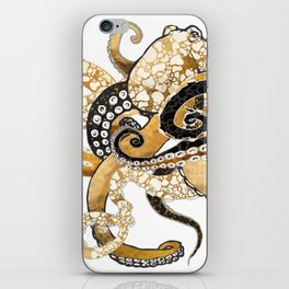 Metallic Octopus iPhone Skin
