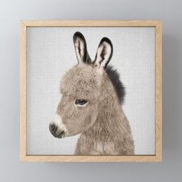 Donkey - Colorful Framed Mini Art Print