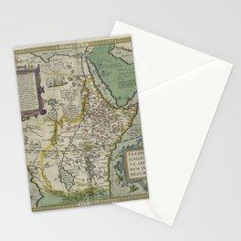 Vintage Map - Ortelius: Theatrum Orbis Terrarum (1606) - Prester John / Abyssinia / Ethiopia Stationery Cards