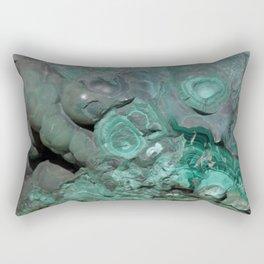 Natural Malachite Rectangular Pillow