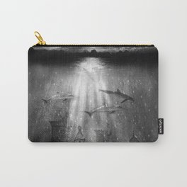 dolphins, civilization. Carry-All Pouch
