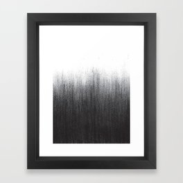 Charcoal Ombré Framed Art Print
