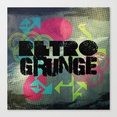 Abstract373 Retro Grunge Canvas Print