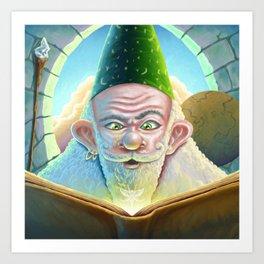 Book of spells Art Print