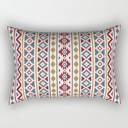 Aztec Essence Pattern II Red Blue Gold Cream Rectangular Pillow