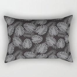 Tropical Print Grey & Black Rectangular Pillow