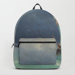 Ivan Aivazovsky - Storm at sea - Digital Remastered Edition Backpack