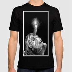 asc 649 - La corne aphrodisiaque (The wax horn) Mens Fitted Tee MEDIUM Black