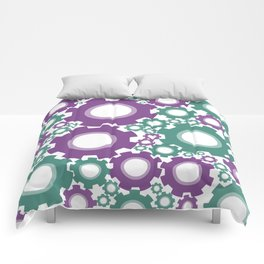 A Cog design in modern colours Comforters