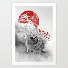 The warrior and the wind Art Print