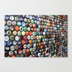 Bottle Caps  Canvas Print
