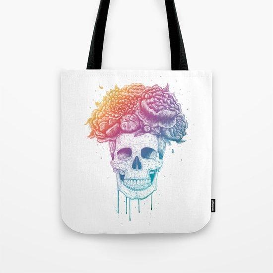 Color skull Tote Bag