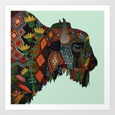 bison mint Art Print