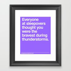 Sleepover Thunderstorms Framed Art Print