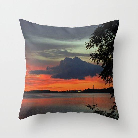 Strange Cloud Throw Pillow