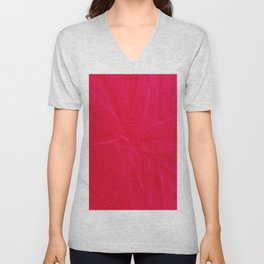 spiral warped red Unisex V-Neck