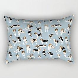 Tree Walker Coonhounds Pattern Rectangular Pillow
