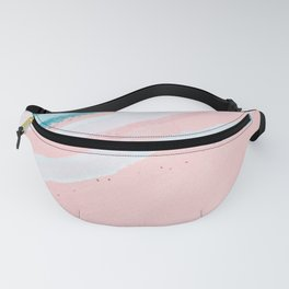 Modern abstract pink blue geometrical watercolor brushstrokes Fanny Pack