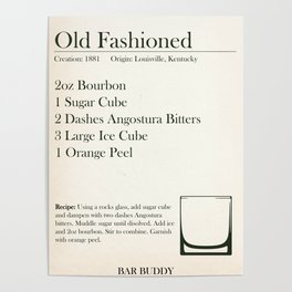 Old Fashioned Recipe Poster