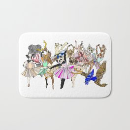 Animal Square Dance Bath Mat