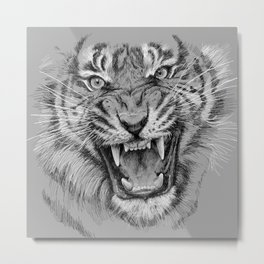 Tiger Portrait Animal Design Metal Print