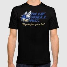 Mario Kart: Blue Shell Inc. Mens Fitted Tee Black MEDIUM