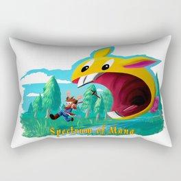 Mana: Rabite Attack! Rectangular Pillow
