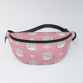 Chinchilla and flowers Fanny Pack