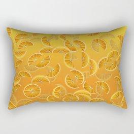 Orange Slices and Juice Rectangular Pillow