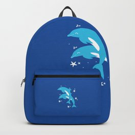 Sealife (Dolphins) - Blue Backpack